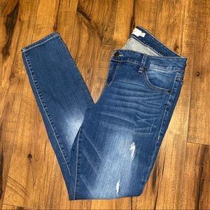 TORRID Skinny Distressed Medium Wash Jeans 12R